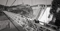 The Warragamba Dam suspension bridge