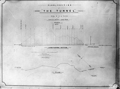 plan of Lachlan Swamps tunnel