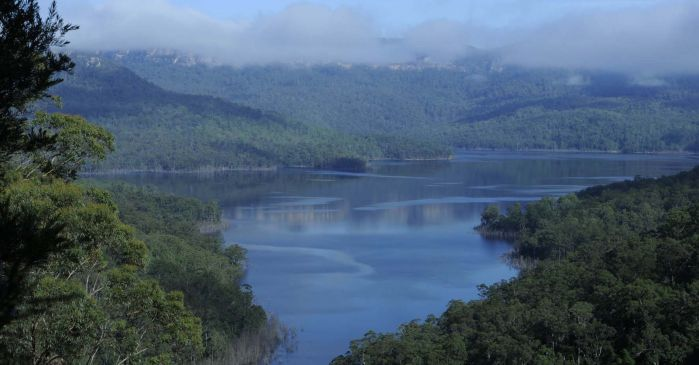 View of lake burragorang