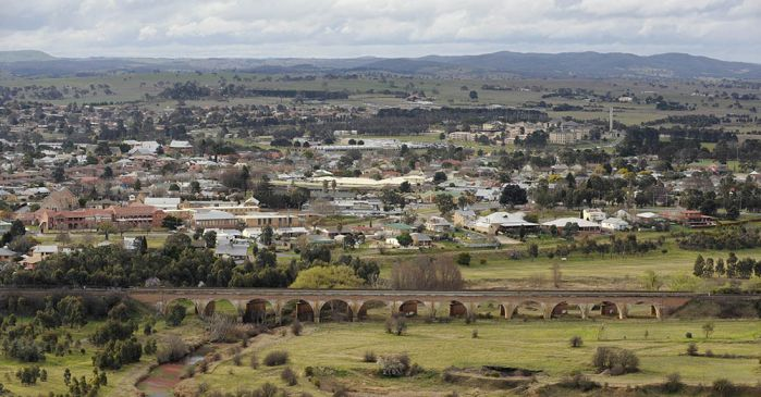 View of Goulburn township