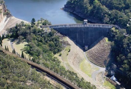 Aerial view of Nepean Dam