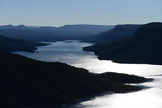 Aerial photo of lake Burragorang