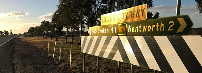 Broken Hill sign