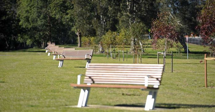 Picnic ground benches
