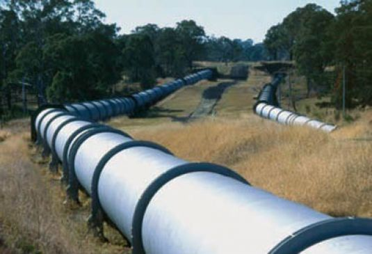 pipeline through the countryside