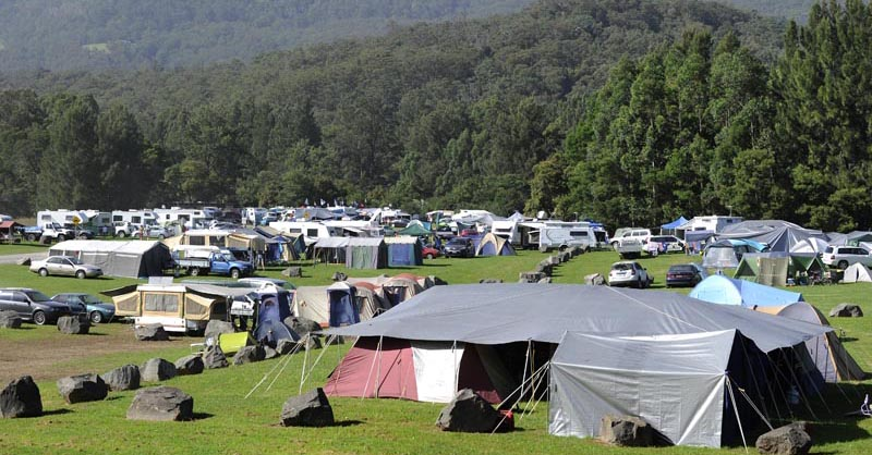 Distant view of camping area