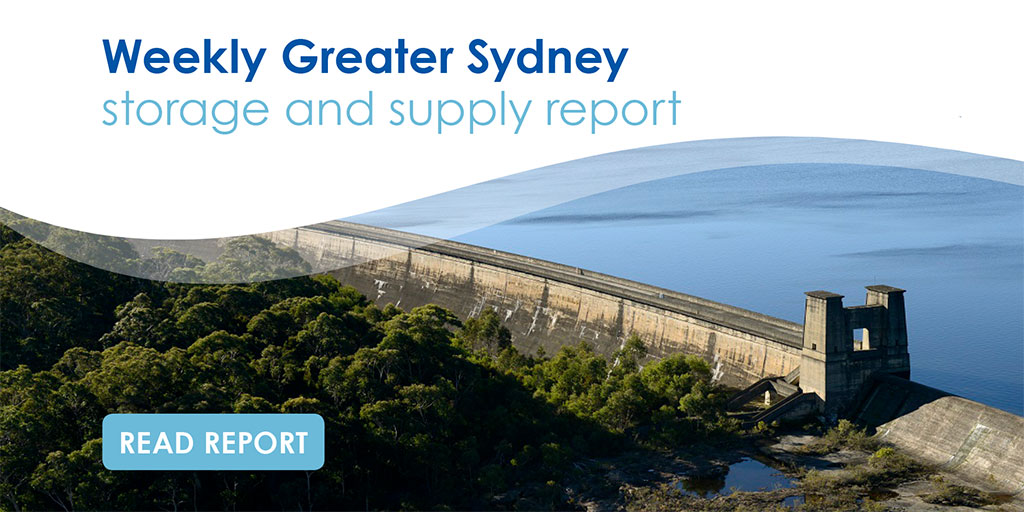 Weekly verified storage reports - WaterNSW