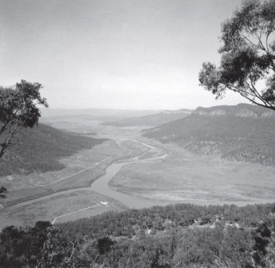 a panorama photo of the future lake burragorang