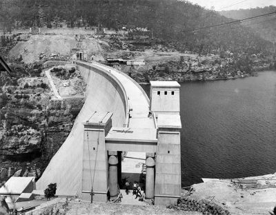 Avon Dam nearly complete
