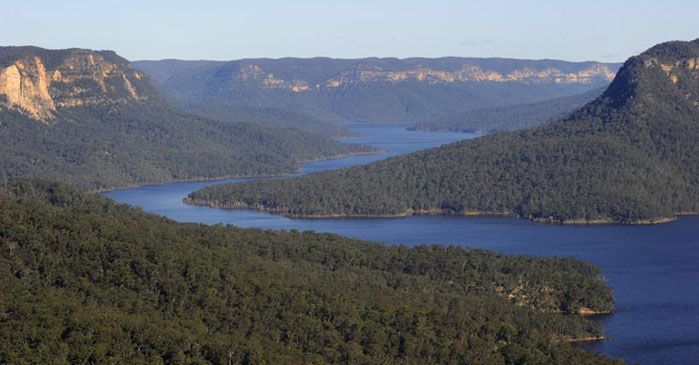Lake Burragorang surrounded by trees