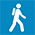 Walking track icon