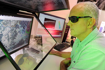SCA officer using 3D GIS system