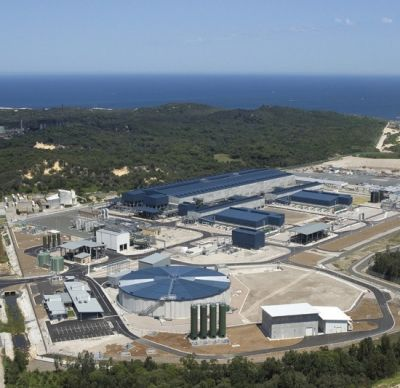 Aerial view of Sydney's desalination plant