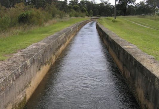 a sandstone-sided canal