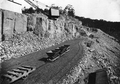 railway cars used for construction