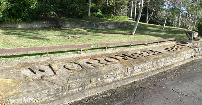 Woronora Dam sign
