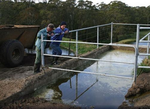 a tank to capture dairy runoff